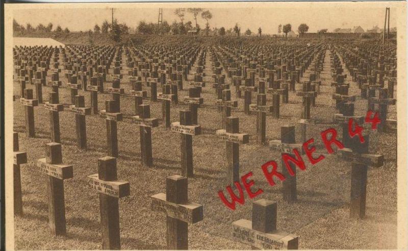 Wervica (Ville)  v. 1916 Deutscher Kriegsfriedhof -- siehe Foto !!  (29631)