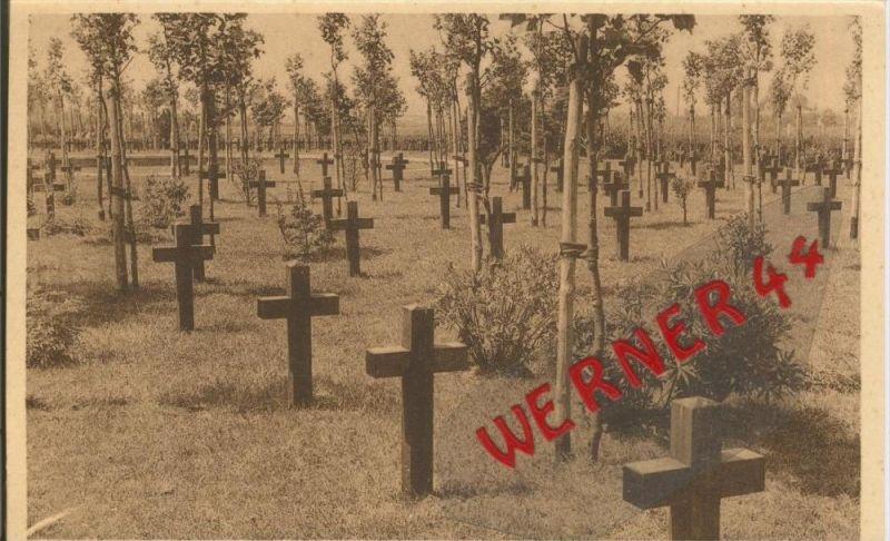 Hollebeke v. 1916 Deutscher Kriegsfriedhof -- siehe Foto !!  (29633)