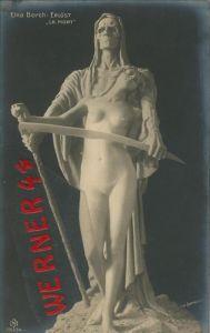 Museum ______?? v. 1912  Elna Borch: Erlöst (Gevater Tod mit einer jungen Frau)  --  siehe Foto !!  (29763)