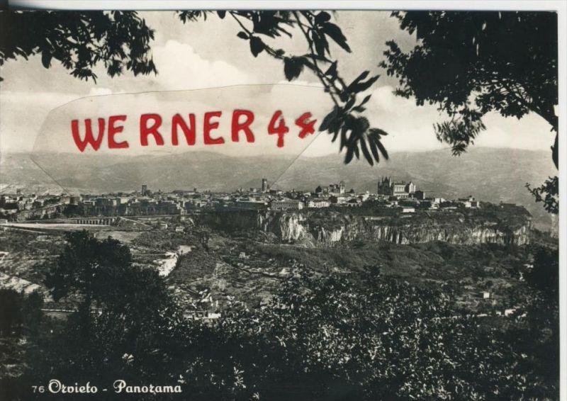 Orvieto v. 1968  Total-Stadt-Ansicht  --  siehe Foto !!  (30781)