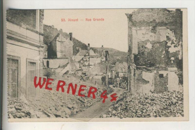 Dinant v. 1916  Rue Grande zerstört   (31252)