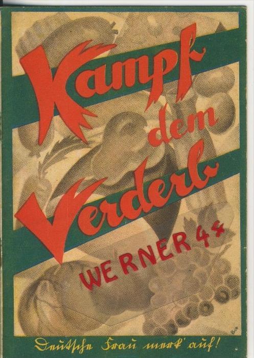 Kampf dem Verderb v. 1936    ## Werbungs-Heft ##   (31343)