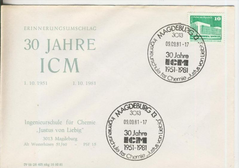 30 Jahre ICM vom 09.09.1981   (37001)