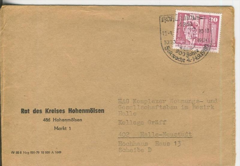 Rat des Kreises Hohenmölsen vom 13.09.1981   (37002)