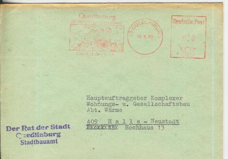 Rat des Kreises Quedlinburg vom 1´5.09.1980   (37007)