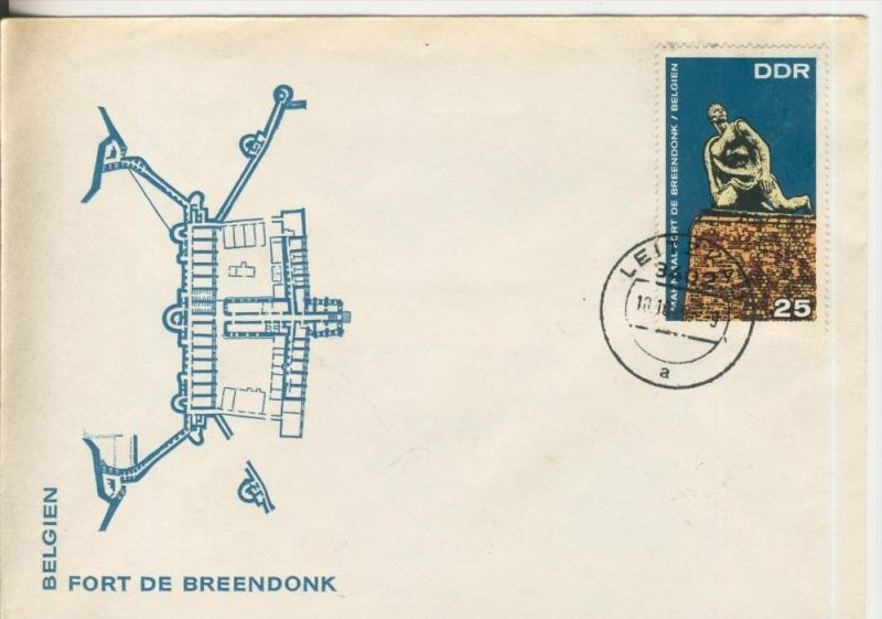 Belgien - Fort de Breendonk, Leipzig von 1968  (37010)
