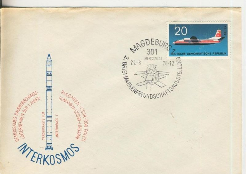 Interkosmos- Magdeburg vom 20.06.1970  (37011)