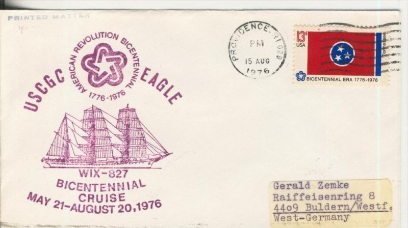 USCGC - EAGLE,May 21-August20, 1976  (37038)