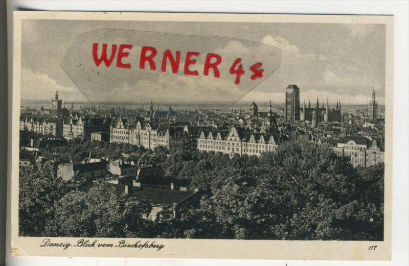 Danzig v. 1940  Blick vom Bischofsberg - Teilstadtansicht    (31544)