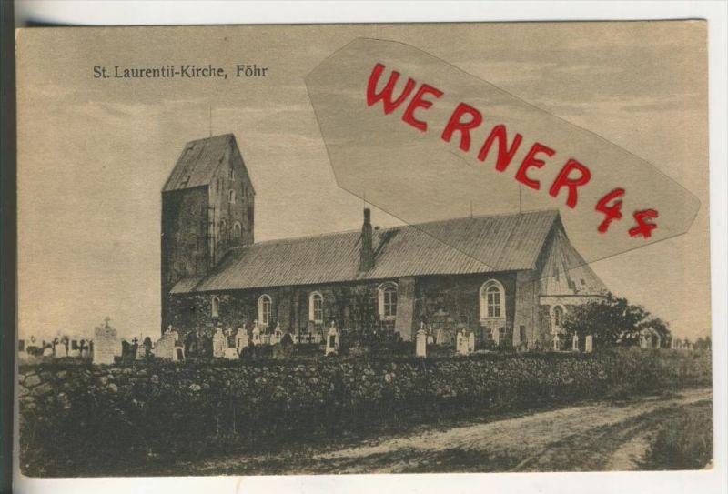 Föhr v. 1918  St. Laurentil Kirche   (31547)