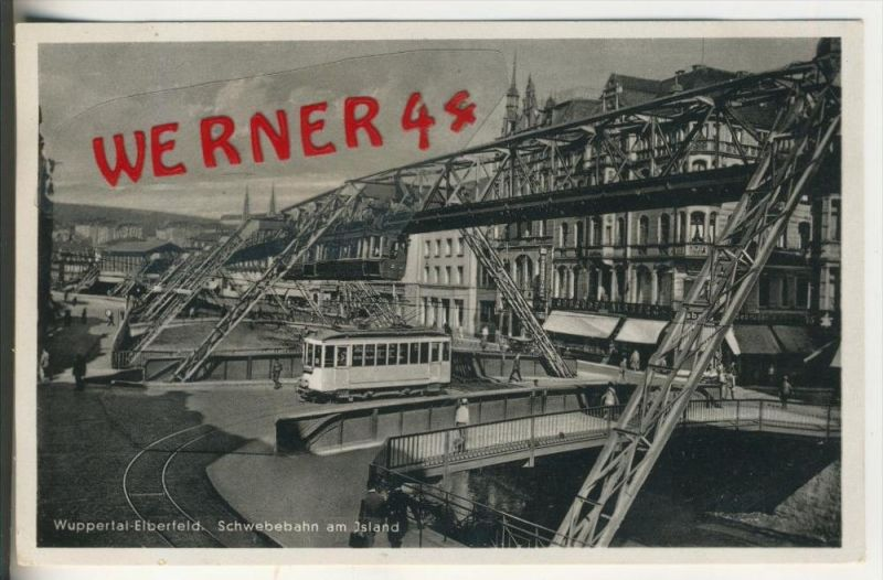 Wuppertal v. 1938  Schwebebahn am Island   (31550)