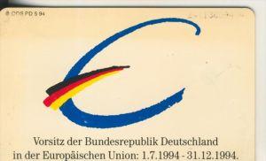Telfonkarte chip 12 DM T Vorsitz der Bundesrepublik Deutschland in der Europäischen Union 1994  (3)
