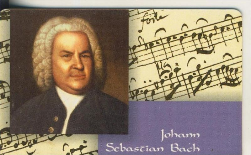 Telfonkarte chip 12 DM T Johann Sebastian Bach (4)