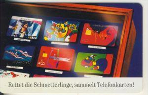 Telfonkarte chip 12 DM T Rettet die Schmetterlinge,sammelt Telefonkarten (5)