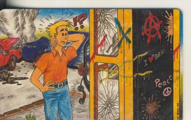 Telfonkarte chip 12 DM T Schluß mit dem Vandalismus an Telefonhäuschen! (6)