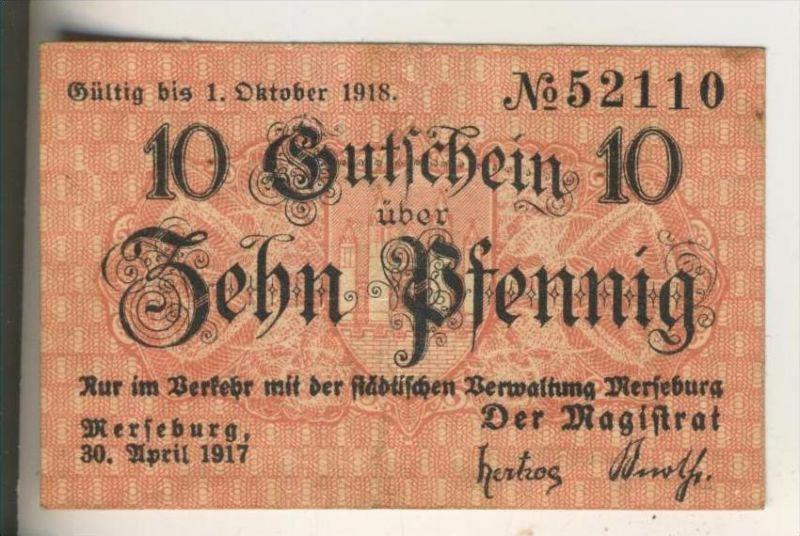 Merseburg v. 1917  10 Pfennig  ( GUTSCHEIN )  (015)