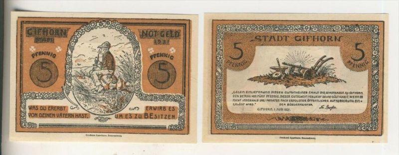 Gifhorn v. 1921  5 Pfennig   ( NOTGELD )  (019)