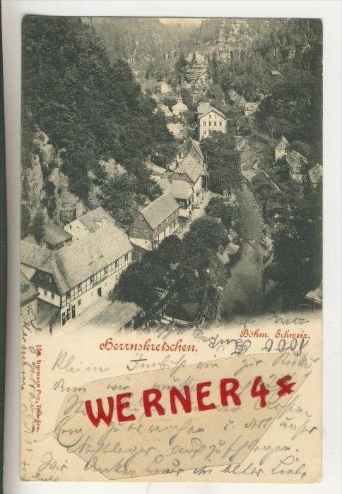 Herrnskretschen v. 1898  Teil-Dorf-Ansicht  (33822)
