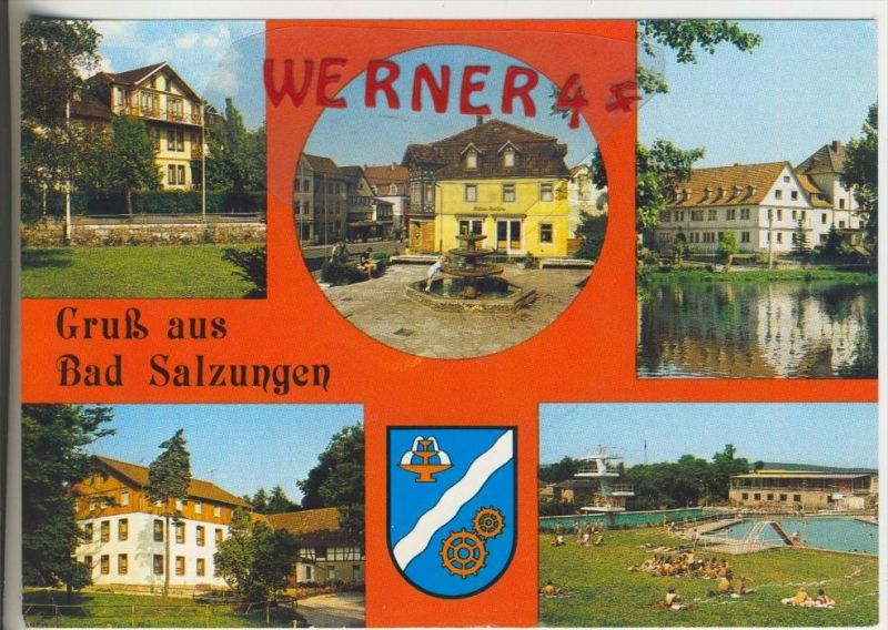 Bad Salzungen v. 1990  5 Ansichten  (36775)