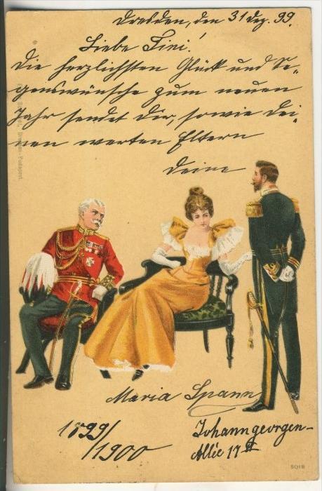 Empfang v. 1899  Millitär  (37679)