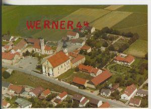 Aufhausen v. 1978  Luftaufnahme--Teil-Dorf Ansicht mit der Wallfahrtskirche Maria Schnee  (38008)