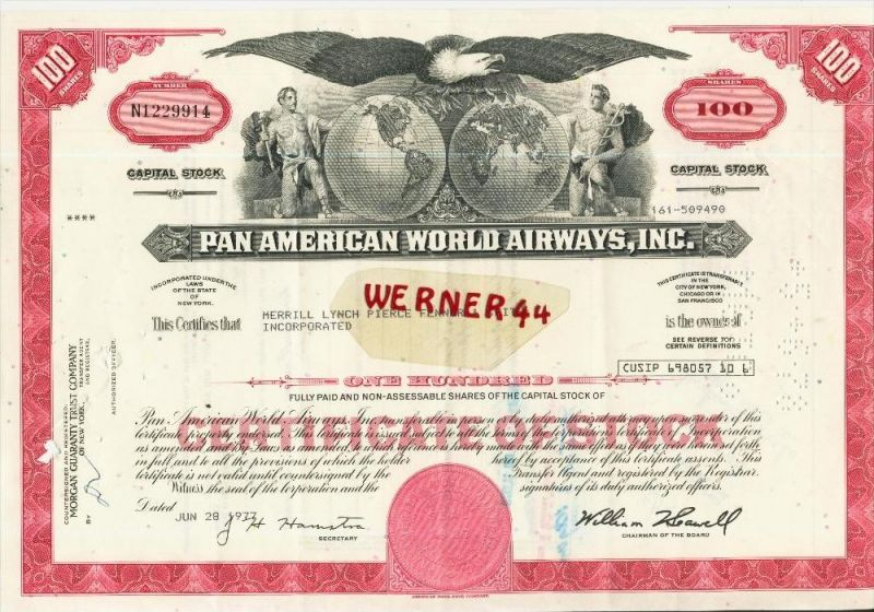 Pan American World Airways,Inc. von 1977 (40529)