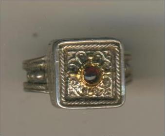 Silberring-925-, mit lila Stein,6,6 gr., RG 51   (40880)