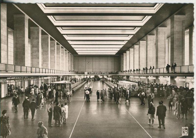 Berlin v. 1968  Zentral Flughafen--Flughalle  (40943)