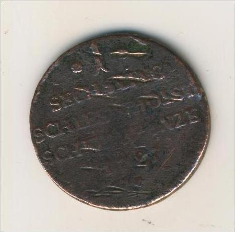 Bronze-Münze, Schleswig-Holstein 1 Sechsling von 1787  (1)