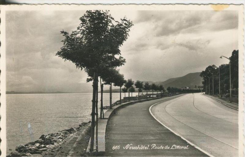 Neuchatel v. 1968  Route de Littoral (42553)