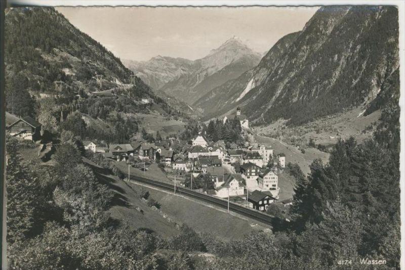 Gemeinde Wassen v. 1968  Dorfansicht  (42631)