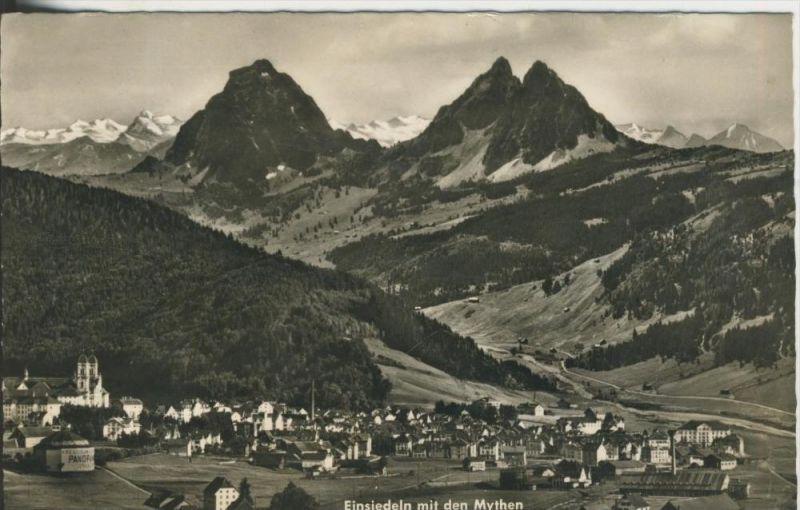 Einsiedeln v. 1956  Total-Dorf-Ansicht  (42637)