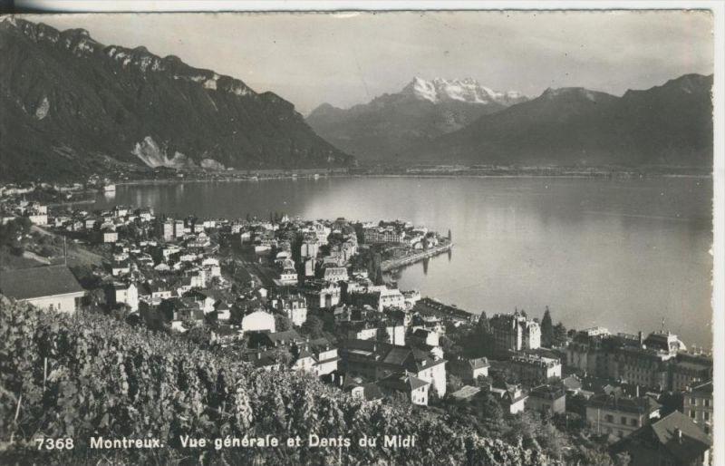 Montreux v. 1960  Teil-Stadt-Ansicht  (42638)