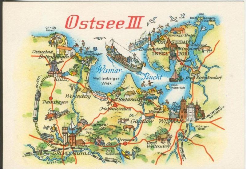 Ostsee v. 1978  Landkarte-Ostsee 3 (42760)