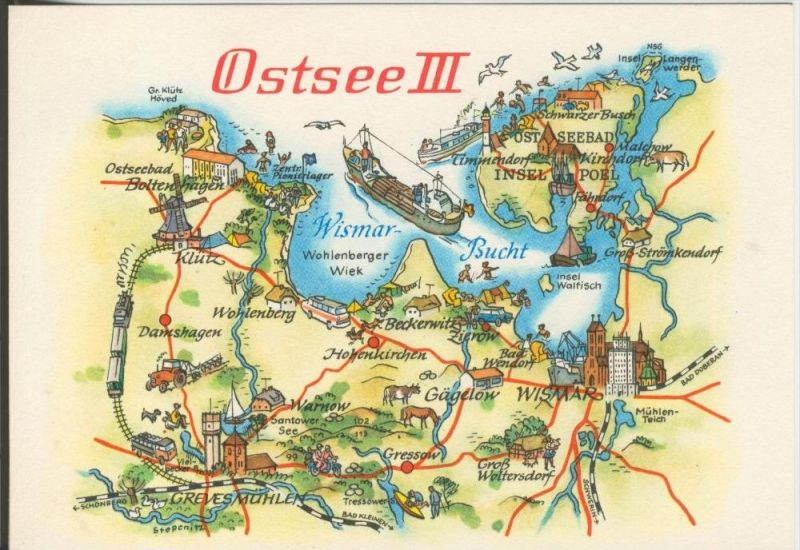 Ostsee v. 1978  Landkarte-Ostsee 3 (42761)