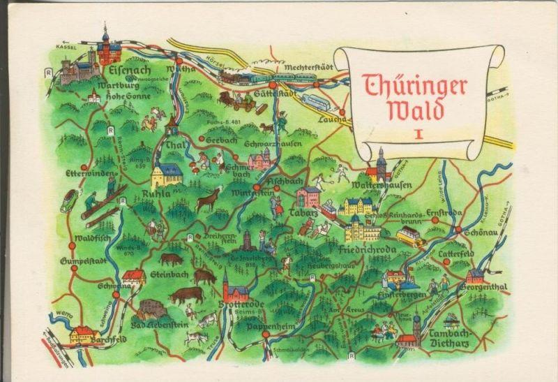 ´Thüringen v. 1970  Thüringer Wald  (42764)