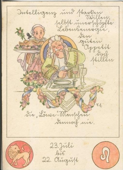 Sternzeichen-Löwe v. 1943  (43344)