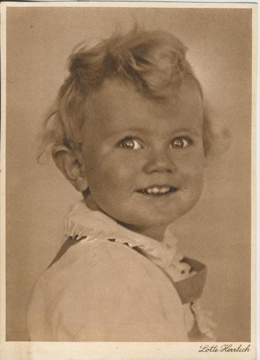 Baby und Kinderkarten v. Lotte Herrlich  aus Hamburg v. 1955  (43381)