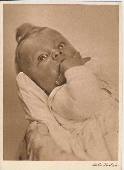 Baby und Kinderkarten v. Lotte Herrlich  aus Hamburg v. 1955  (43382)