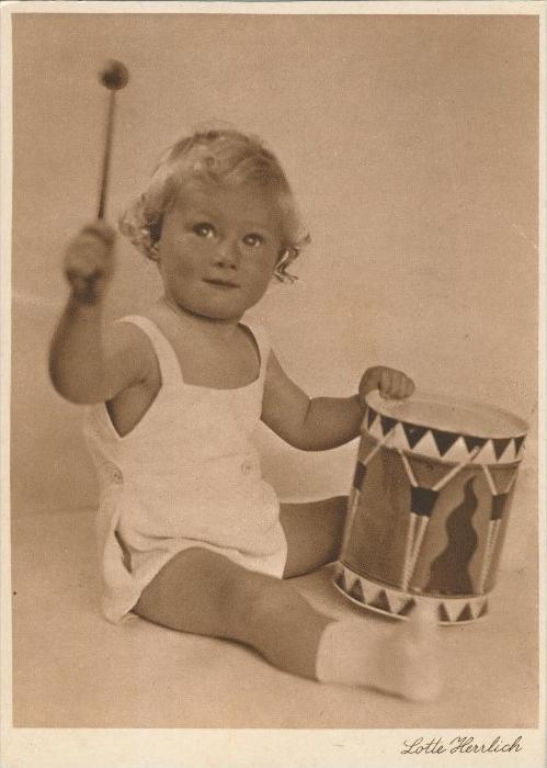 Baby und Kinderkarten v. Lotte Herrlich  aus Hamburg v. 1955  (43384)