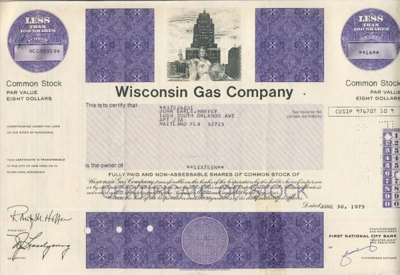 Wisconsin Gas Company  (44018)