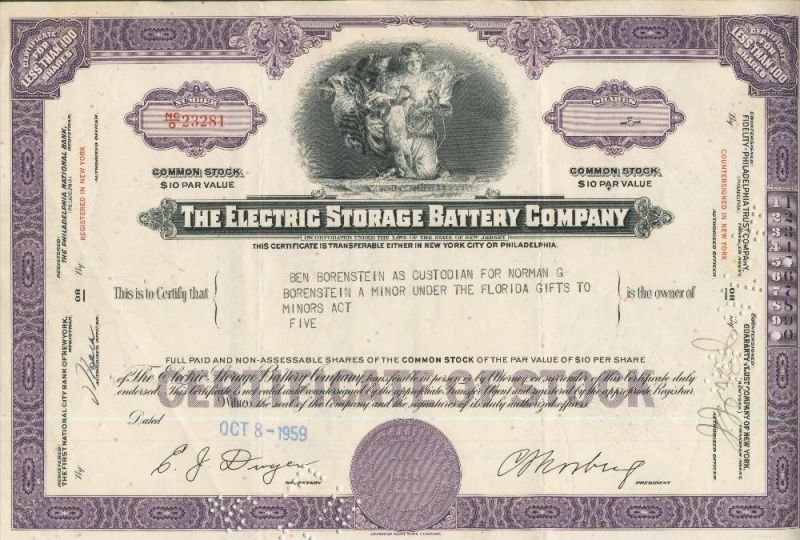 The Electric Storage Battery Company  (44028)
