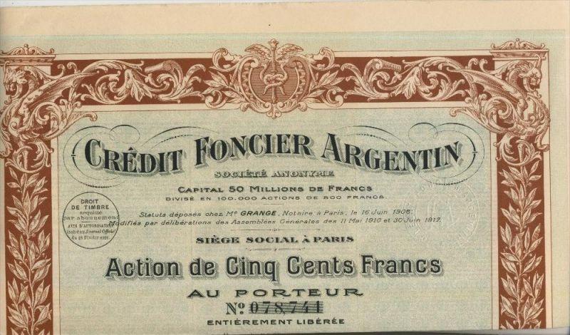 Credit Foncier Argentin v. 1920 Paris  (46640)