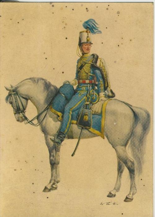 Spanien v. 1955  Spanien um 1833 -- Regiment Nr. 19