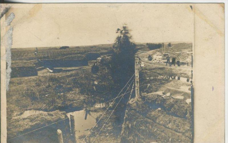 Verdun v. 1917  Bahnlinie,Unterkunft,Soldatenfriedhof (44904)