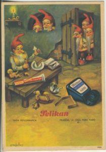 Pelikan v.1925  6 Zwerge,Tintenfass,Tisch (535)
