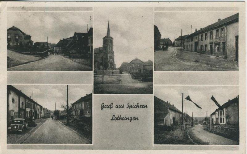 Gruss aus Spichern / Lothringen v.1943 5 Ansichten (1094-N)