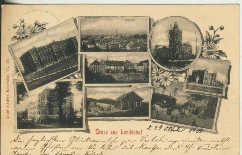 Gruss aus Landshut v. 1900 8 Stadtansichten (45323)