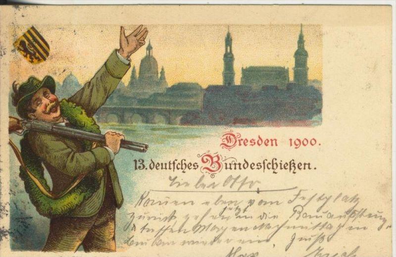 Dresden v. 1900  13. deutsche Bundesschießen (45325)