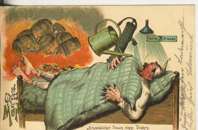 Lauban v. 1899  Schrecklicher Traum eines Trinkers  (45327)
